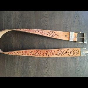 "Accessories - Vintage leather belt, 36"""
